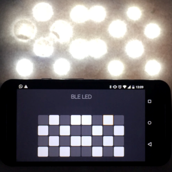 cellphone screen and LED screen with the same pattern