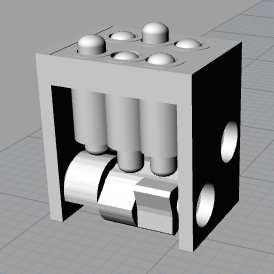 3D model of single braille cell