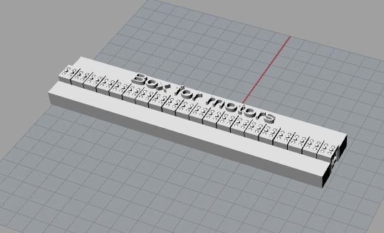 3d design of the complete braille display