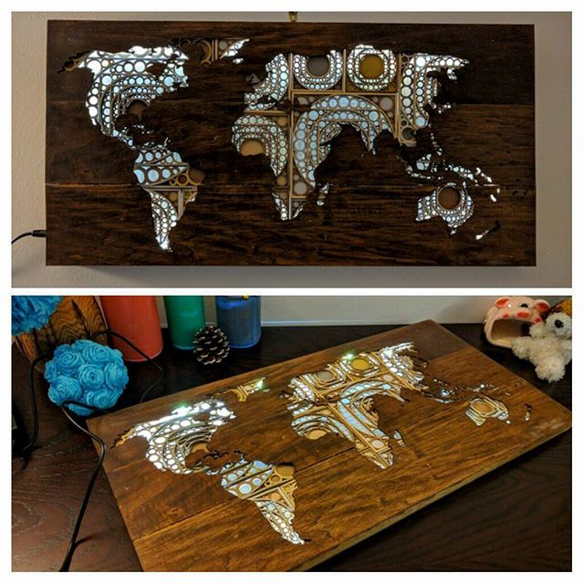 Laser Cut World Map.Mathuramg